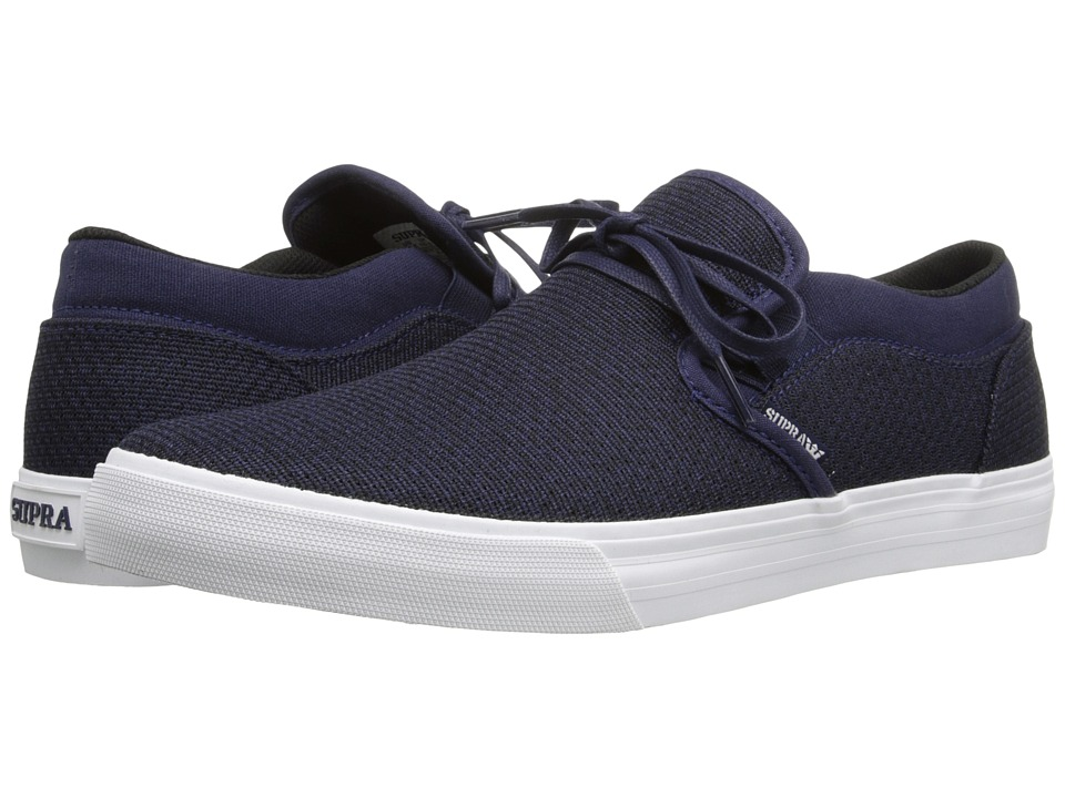 Supra - Cuba (Navy Heather/Navy/White) Men's Skate Shoes