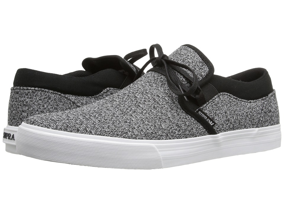 Supra - Cuba (Charcoal Heather/Black-White) Men's Skate Shoes