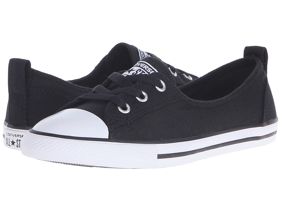 Converse - Chuck Taylor All Star Ballet Lace Summer Material (Black/White/Black) Women's Shoes