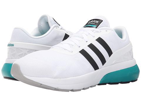 adidas - Cloudfoam Flow (White/Black/EQT Green) Men
