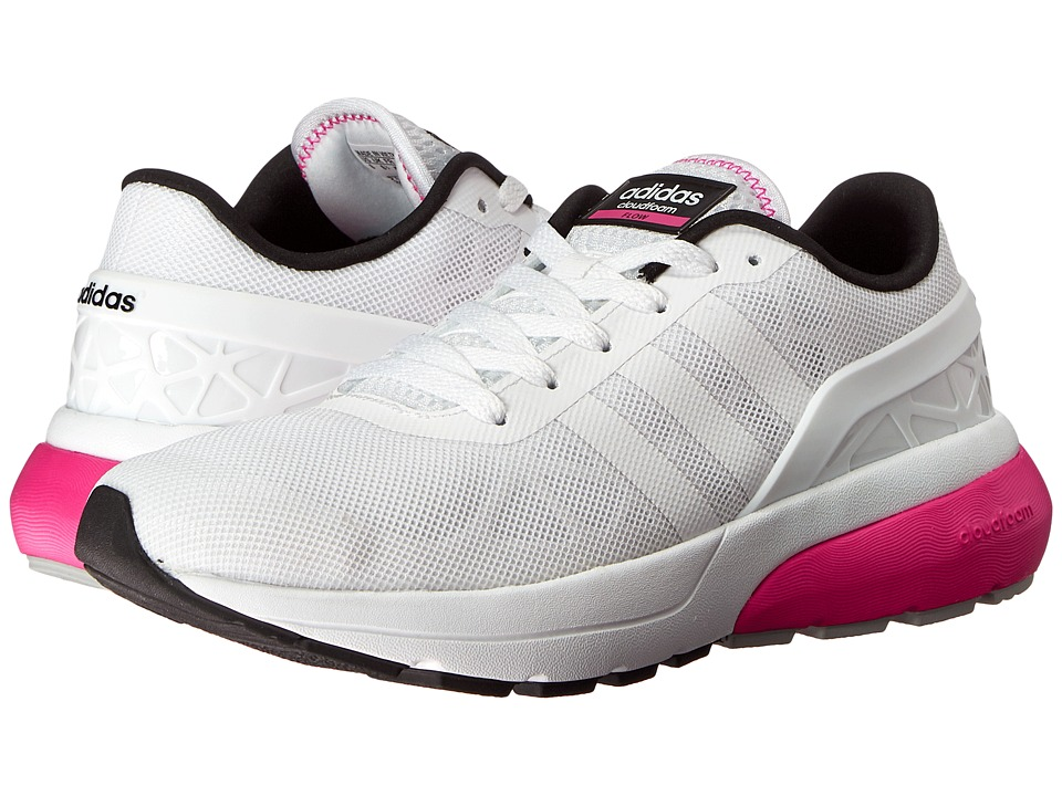 adidas - Cloudfoam Flow (White/Shock Pink) Women's Running Shoes