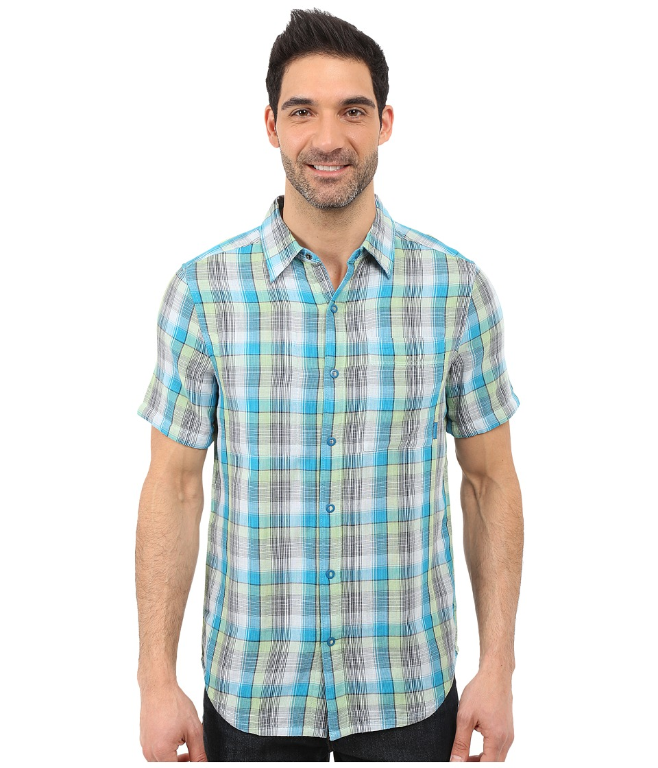 Merrell - Breezeway Reversible Shirt 2.0 (Opaline Green/Celery) Men's Short Sleeve Button Up