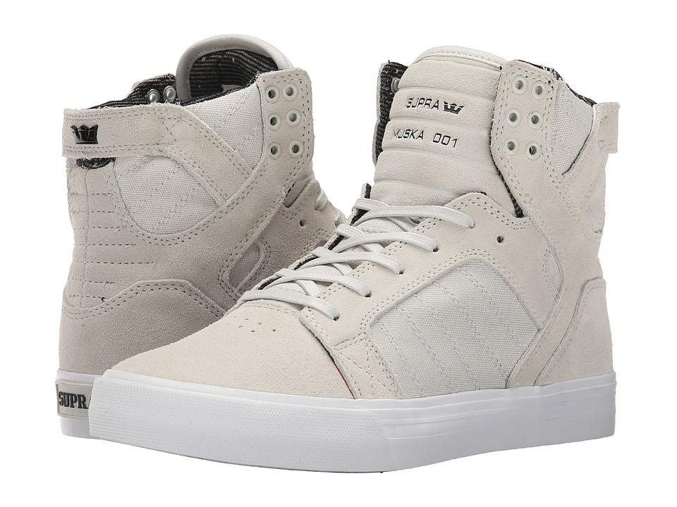 Supra Skytop (Light Grey/White) Women