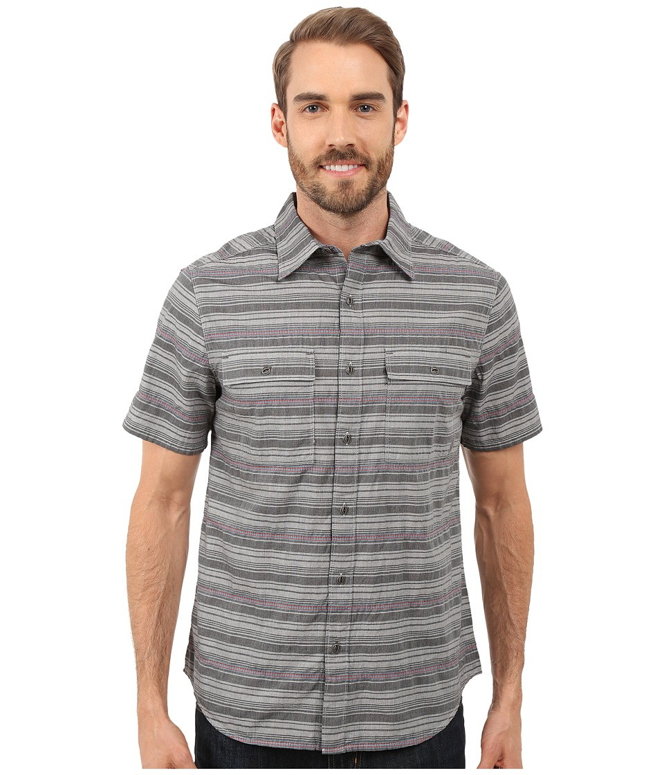 Merrell - Sunterra Shirt (Black) Men's Short Sleeve Button Up