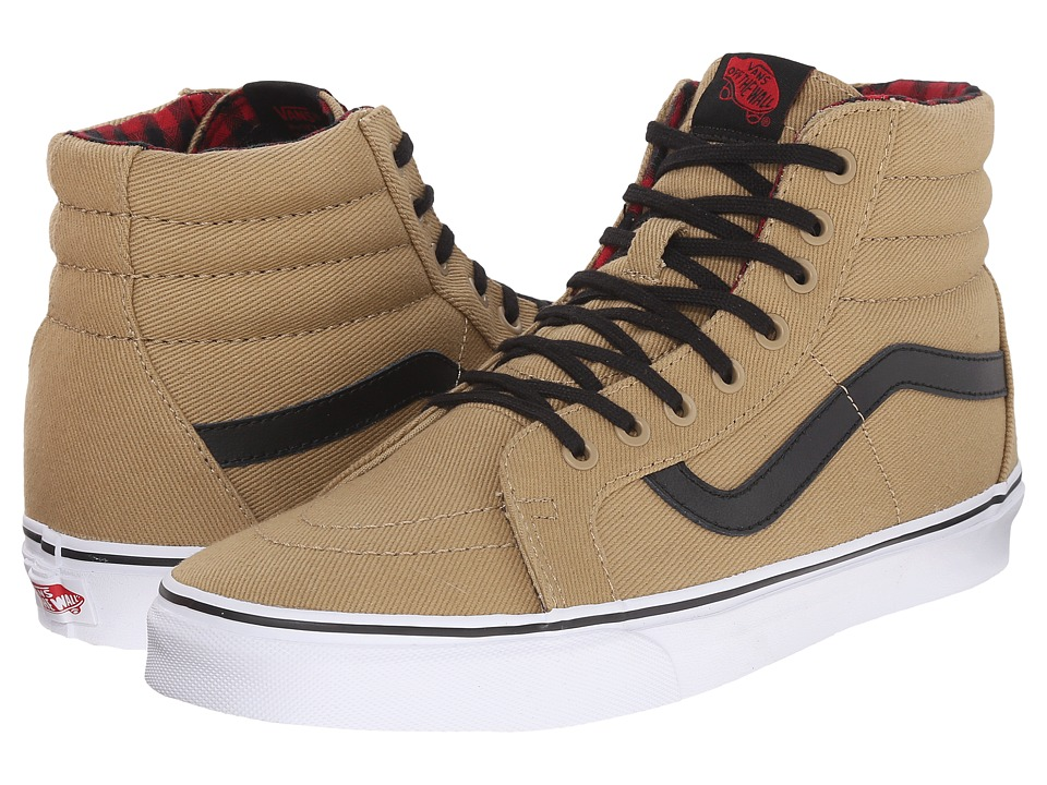 Vans SK8-Hi Reissue ((Twill & Gingham) Cornstalk/Black) Skate Shoes