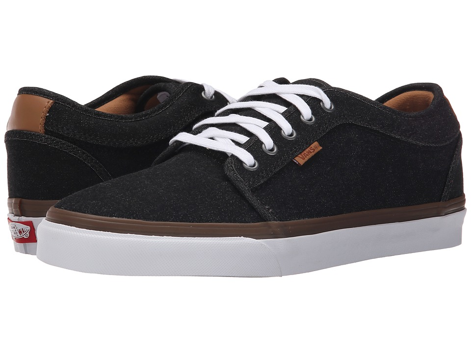 Vans - Chukka Low ((Denim) Black/White) Men's Skate Shoes