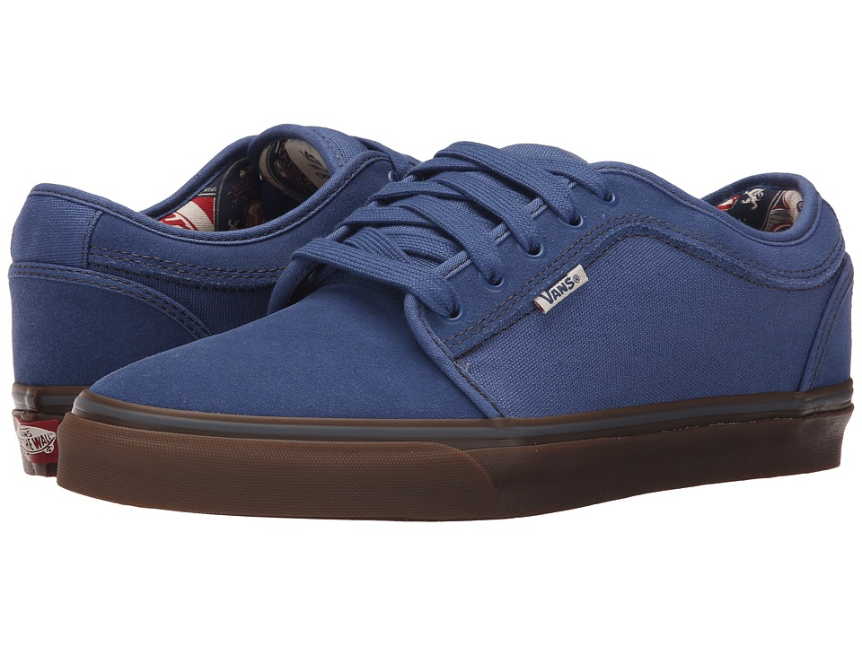 Vans - Chukka Low ((Labels) Blue/Gum) Men's Skate Shoes