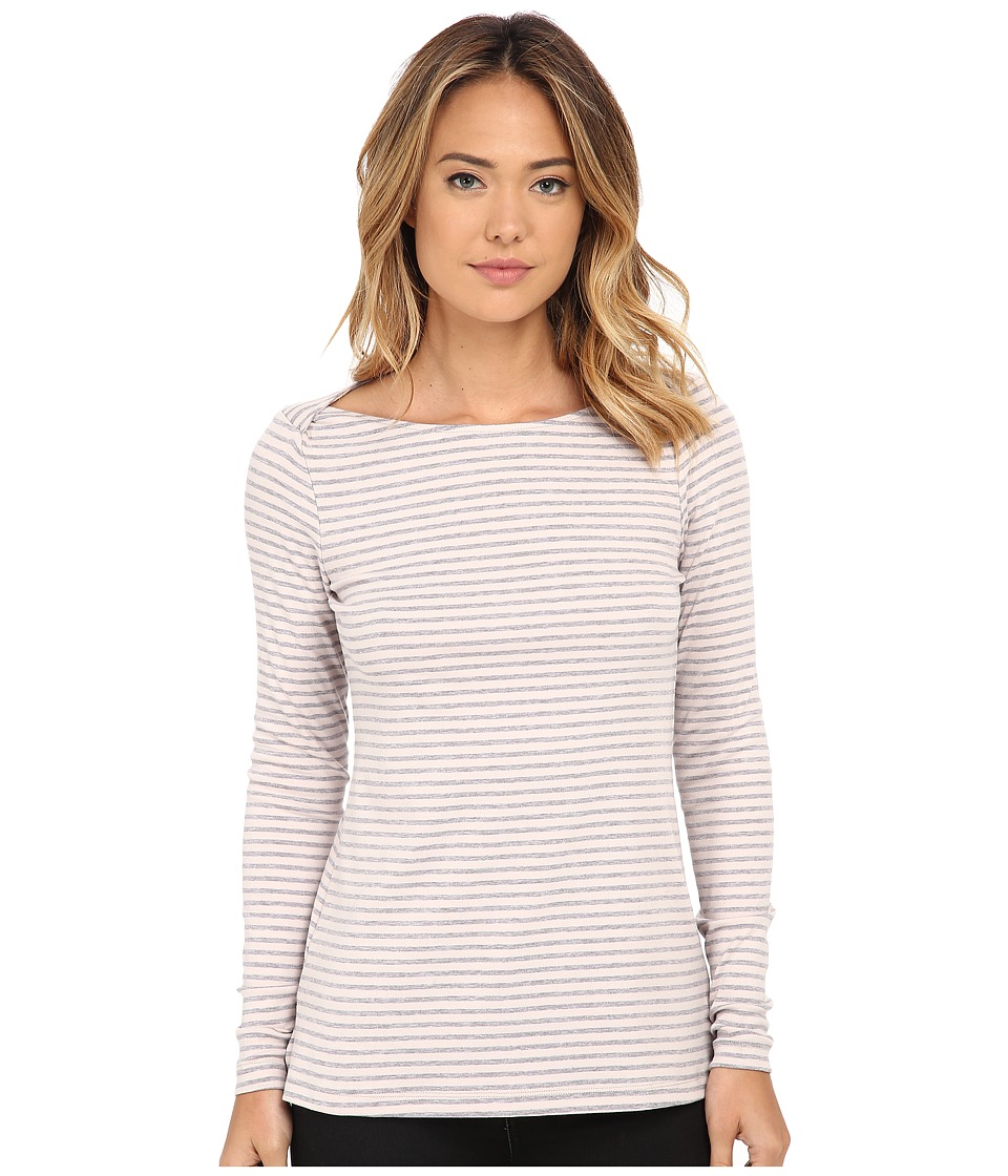 Three Dots - Crossover Boat Neck (Grey Morn) Women