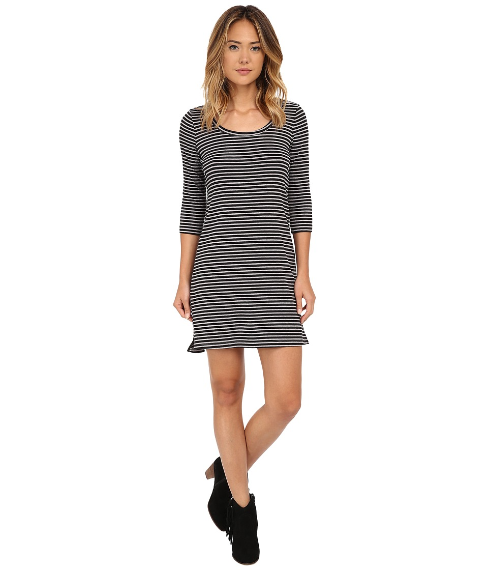 Three Dots - Scoop Neck T-Shirt Dress (Black) Women's Dress