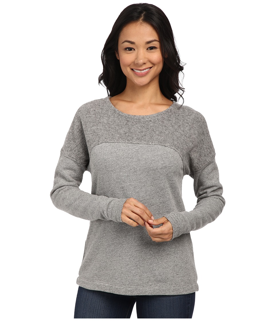 Three Dots - Reverse Panel Sweatshirt (Granite) Women's Fleece