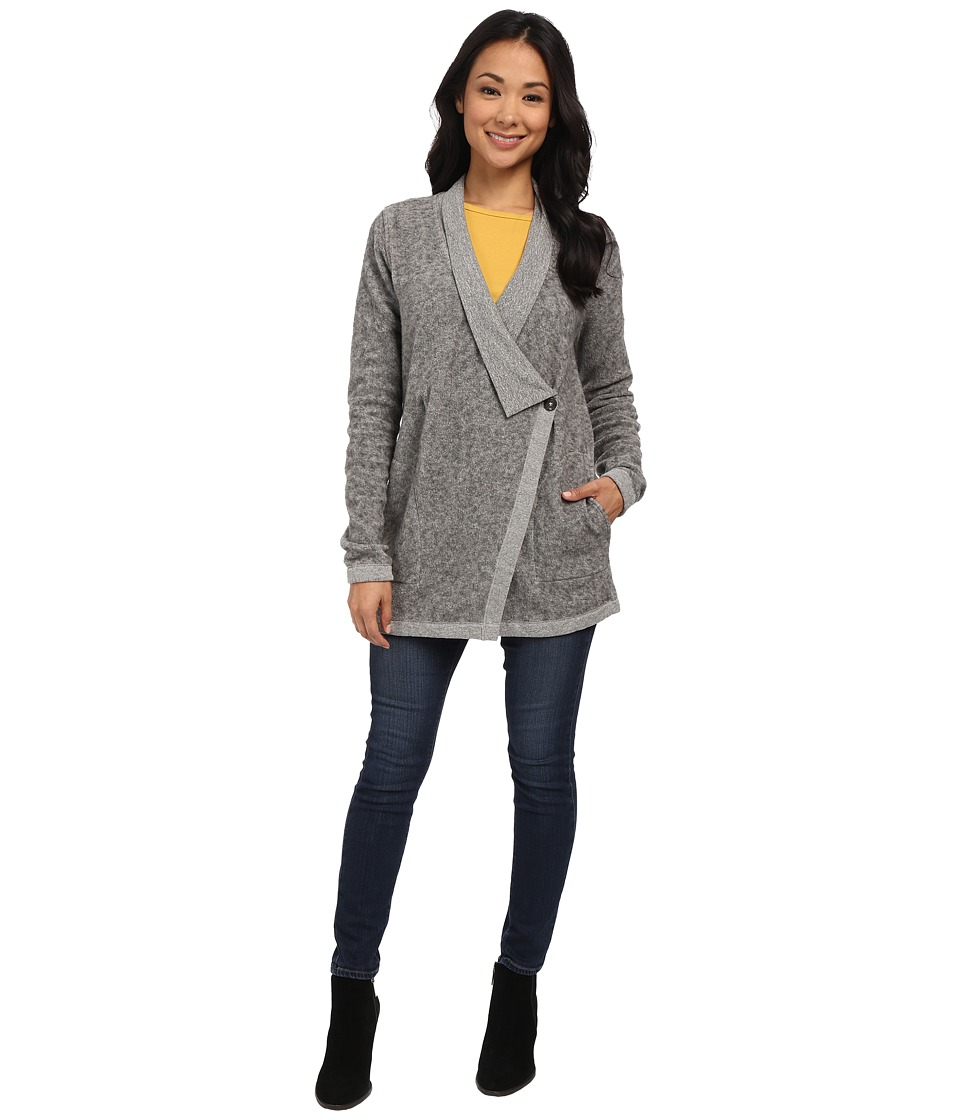 Three Dots - Long Sleeve Button Cardigan (Granite) Women's Sweater