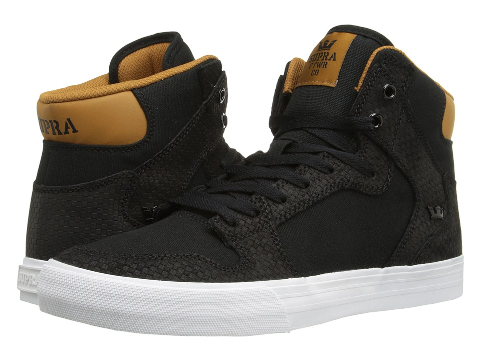 Supra Vaider (Black/Cathay Spice/White) Skate Shoes