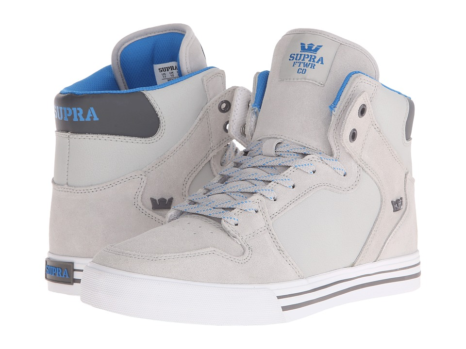 Supra - Vaider (Light Grey/Brilliant Blue/White) Skate Shoes