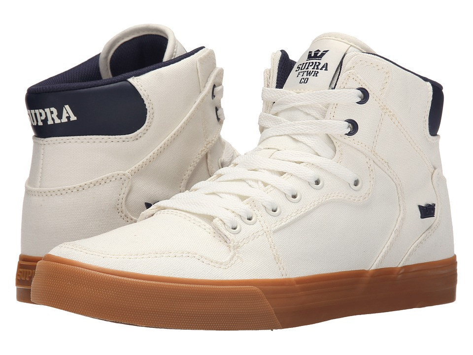 Supra - Vaider (Off-White/Blue Nights/Gum) Skate Shoes