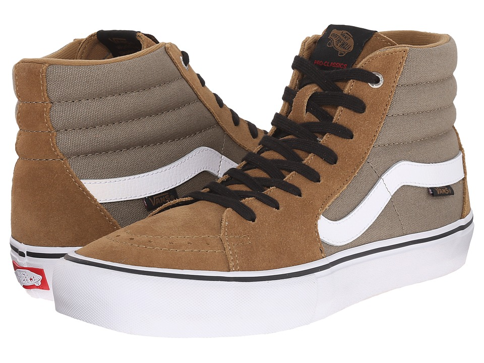 Vans - SK8-Hi Pro (Covert Green/White) Men's Skate Shoes