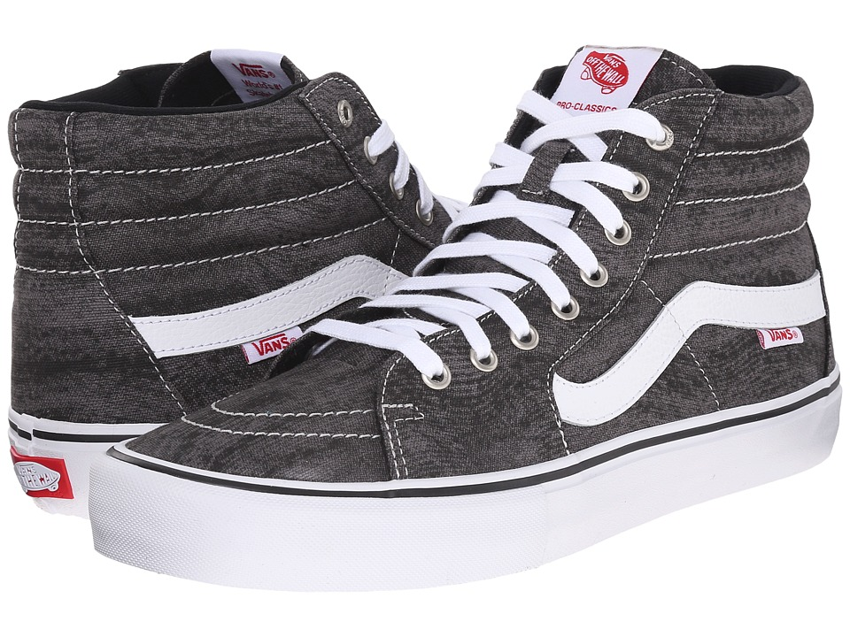 Vans - SK8-Hi Pro ((Distortion) Black/White) Men's Skate Shoes