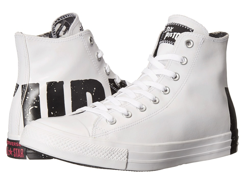 Converse - Chuck Taylor All Star Hi - Sex Pistols (White/Black/White) Lace up casual Shoes