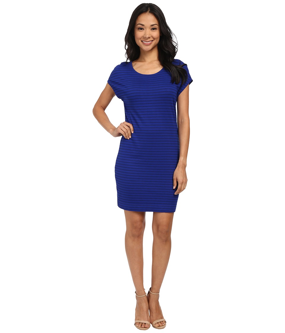 Three Dots Cap Sleeve Pegged Dress (Blue Rebel) Women