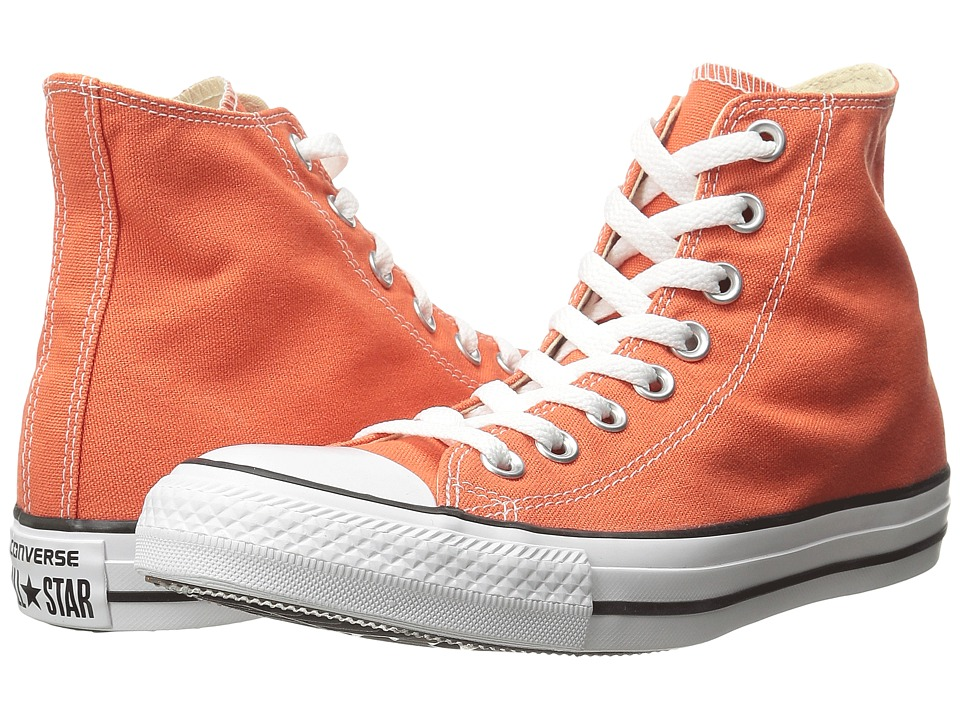 Converse - Chuck Taylor All Star Seasonal Color Hi (My Van is on Fire/White/Black) Lace up casual Shoes