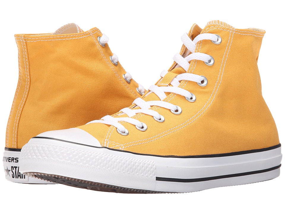 Converse - Chuck Taylor All Star Seasonal Color Hi (Solar Orange/White/Black) Lace up casual Shoes