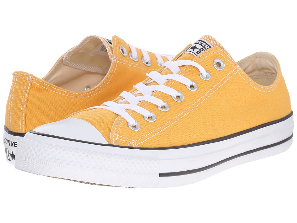 Converse - Chuck Taylor All Star Seasonal OX (Solar Orange/White/Black) Athletic Shoes