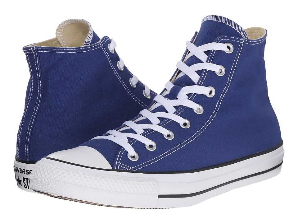 Converse - Chuck Taylor All Star Seasonal Color Hi (Roadtrip Blue/White/Black) Lace up casual Shoes