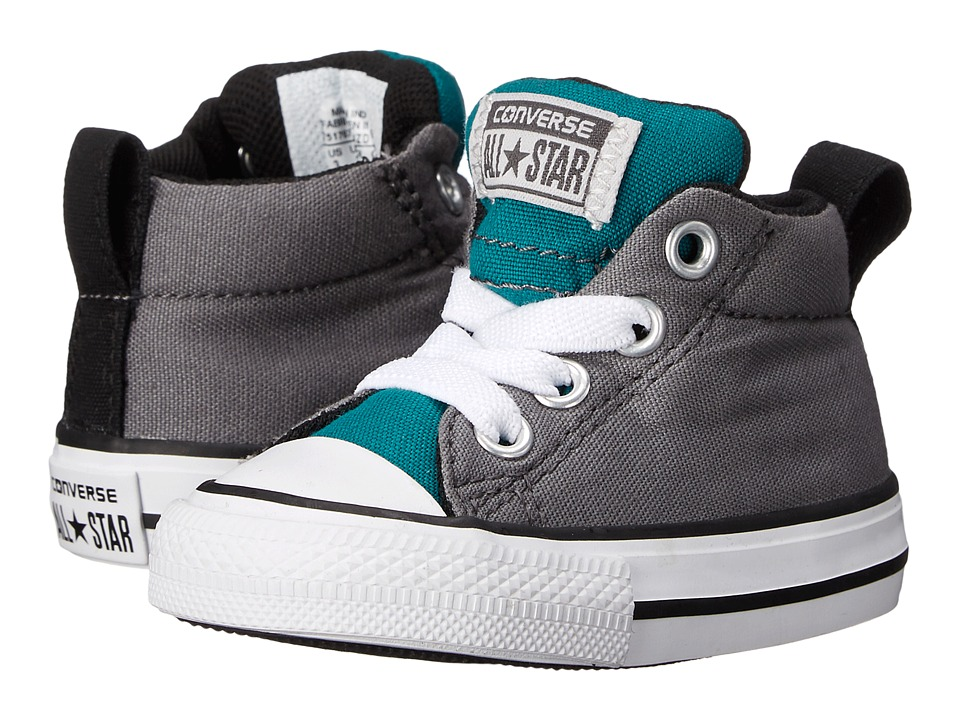 Converse Kids - Chuck Taylor All Star Street Mid (Infant/Toddler) (Rebel Teal/Thunder/Mouse) Boy's Shoes