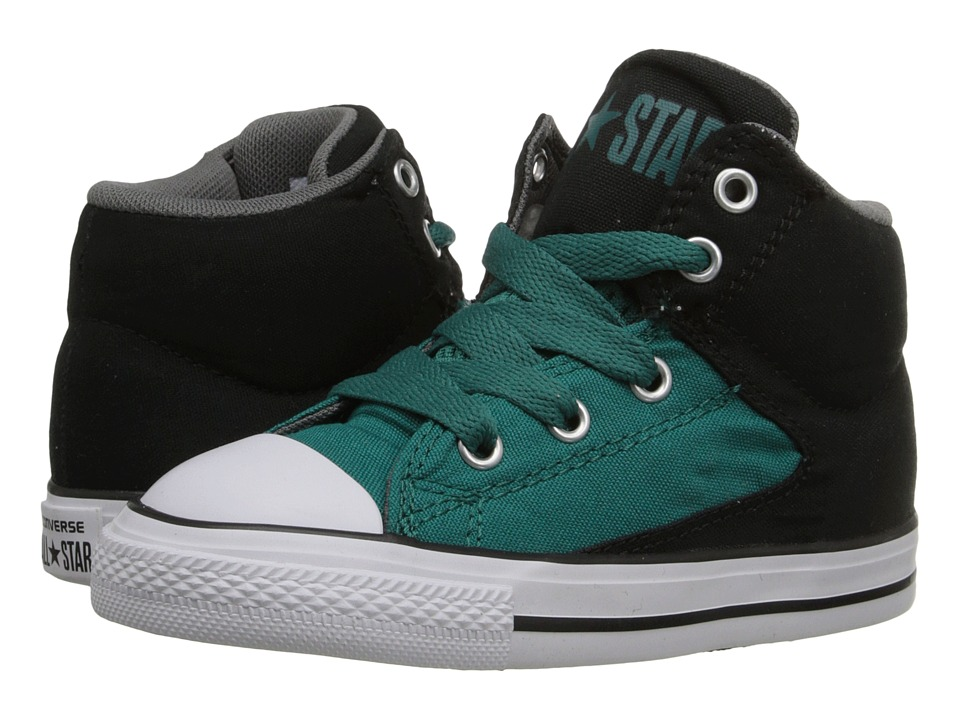 Converse Kids - Chuck Taylor All Star High Street (Infant/Toddler) (Rebel Teal/Black/White) Boys Shoes