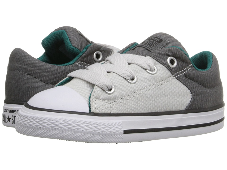 Converse Kids - Chuck Taylor All Star High Street Slip (Infant/Toddler) (Thunder/Mouse/Rebel Teal) Boys Shoes