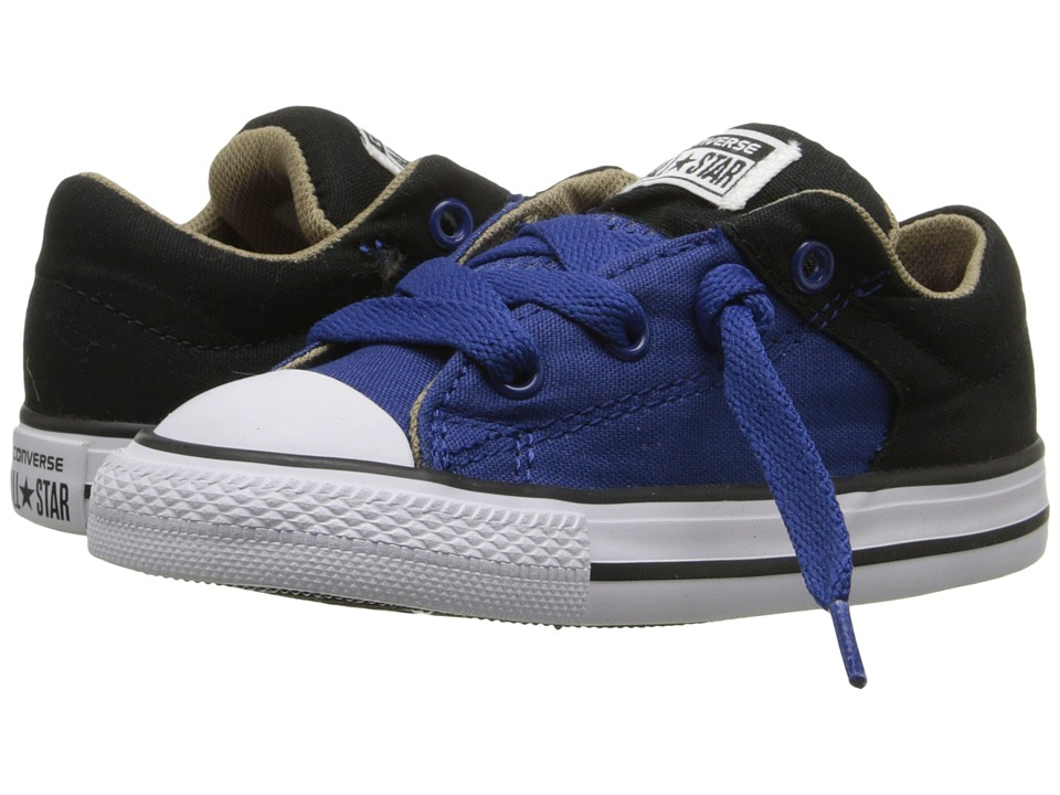 Converse Kids - Chuck Taylor All Star High Street Slip (Infant/Toddler) (Roadtrip Blue/Black/Sandy) Boys Shoes