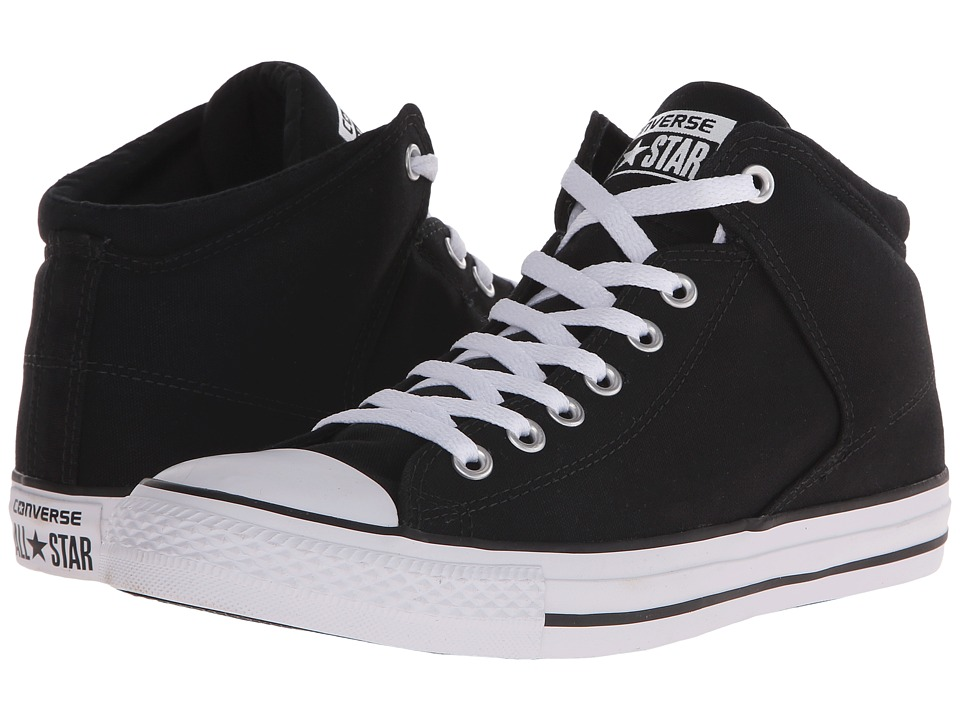 Converse - Chuck Taylor All Star Hi Street Canvas (Black/Black/White) Men's Lace up casual Shoes