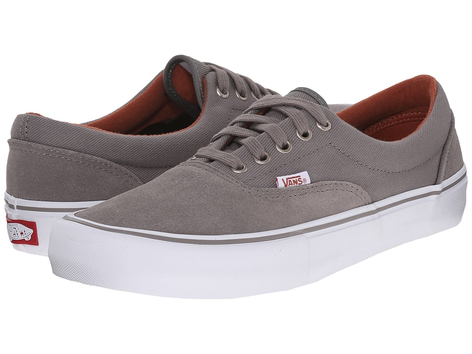 Vans - Era Pro (Brushed Nickle/White) Men's Skate Shoes