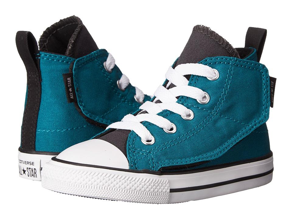 Converse Kids - Chuck Taylor All Star Simple Step Hi (Infant/Toddler) (Rebel Teal/Storm Wind/Black) Boys Shoes