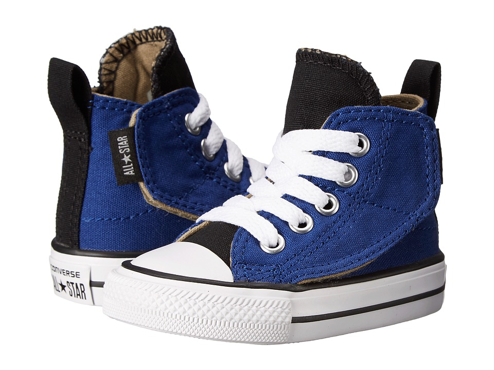 Converse Kids - Chuck Taylor All Star Simple Step Hi (Infant/Toddler) (Roadtrip Blue/Black/Sandy) Boys Shoes