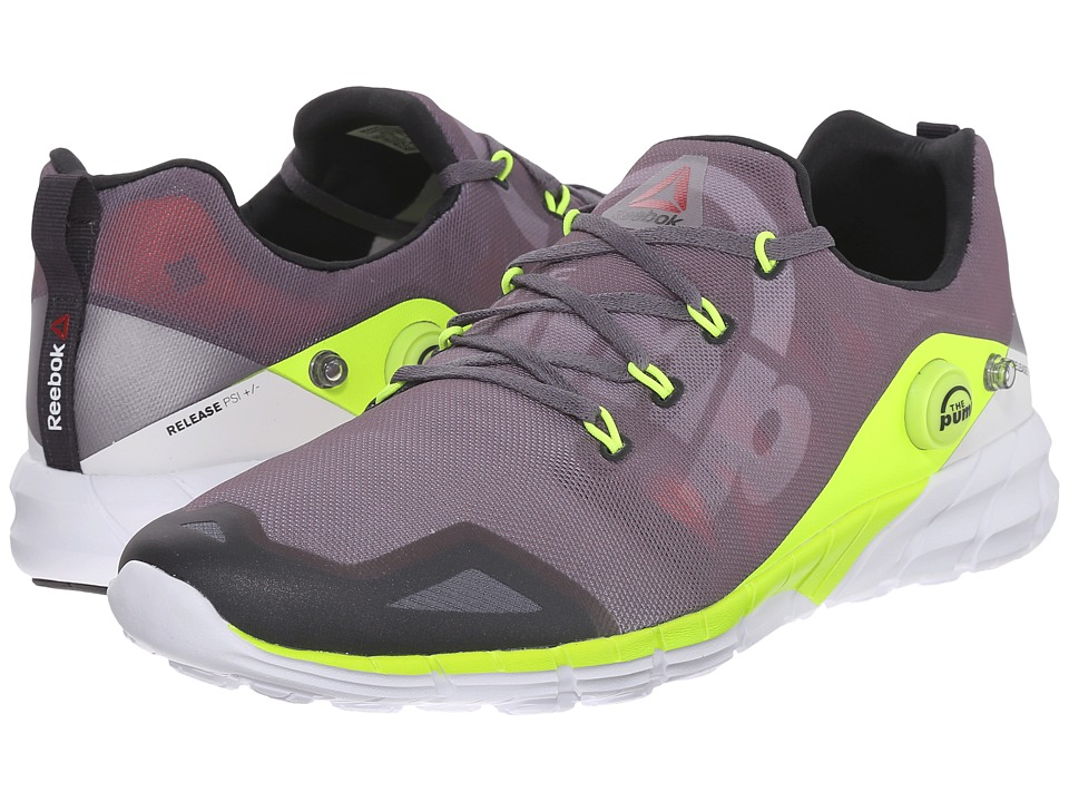 Reebok - ZPump Fusion 2.0 (Alloy/Tin Grey/Solar Yellow/Coal/White) Men's Running Shoes