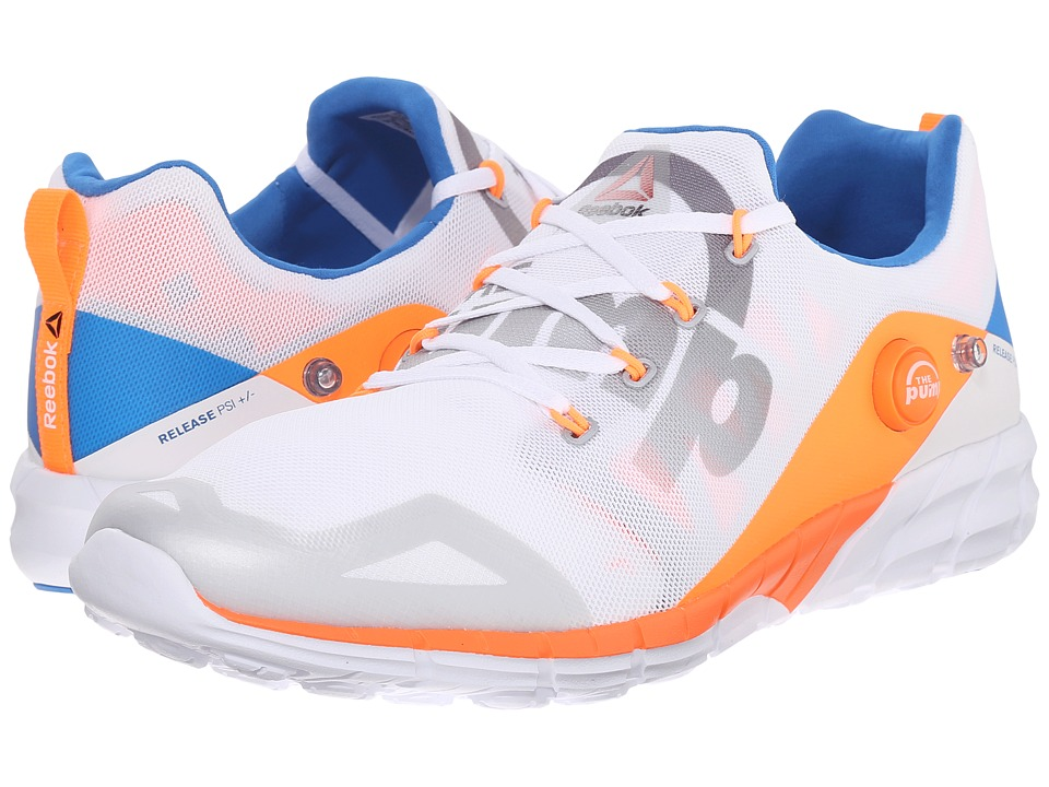 Reebok - ZPump Fusion 2.0 (Tin Grey/White/Opal/Electric Peach/Blue Sport) Men's Running Shoes