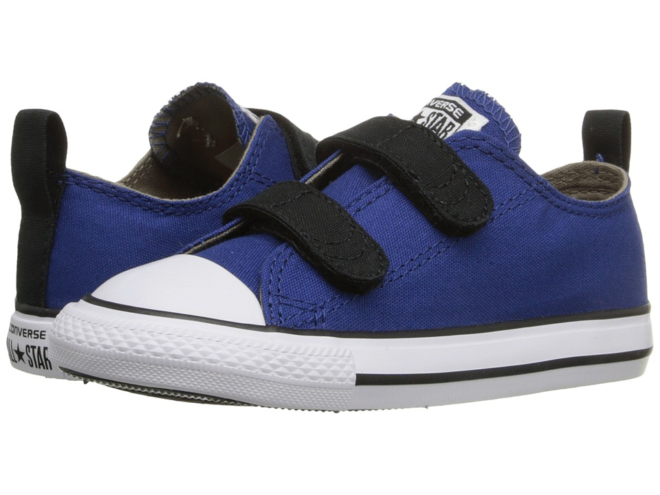 Converse Kids - Chuck Taylor All Star 2V Ox (Infant/Toddler) (Roadtrip Blue/Sandy/Black) Boys Shoes