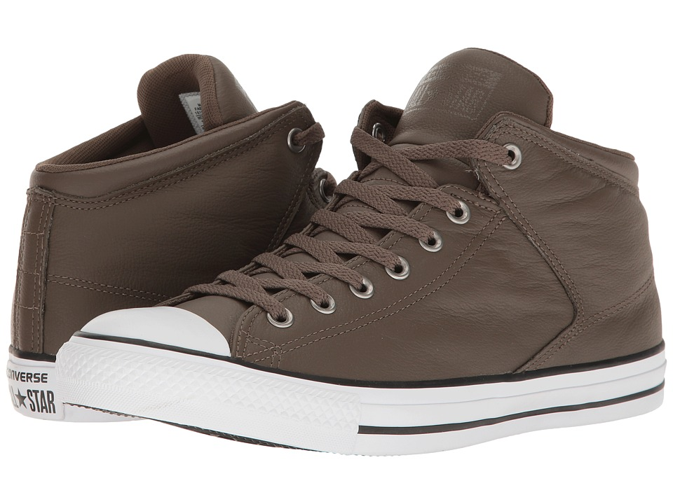 Converse Chuck Taylor(r) All Star(r) Hi Street Car Leather Motorcycle Leather (Engine Smoke/Black/White) Men
