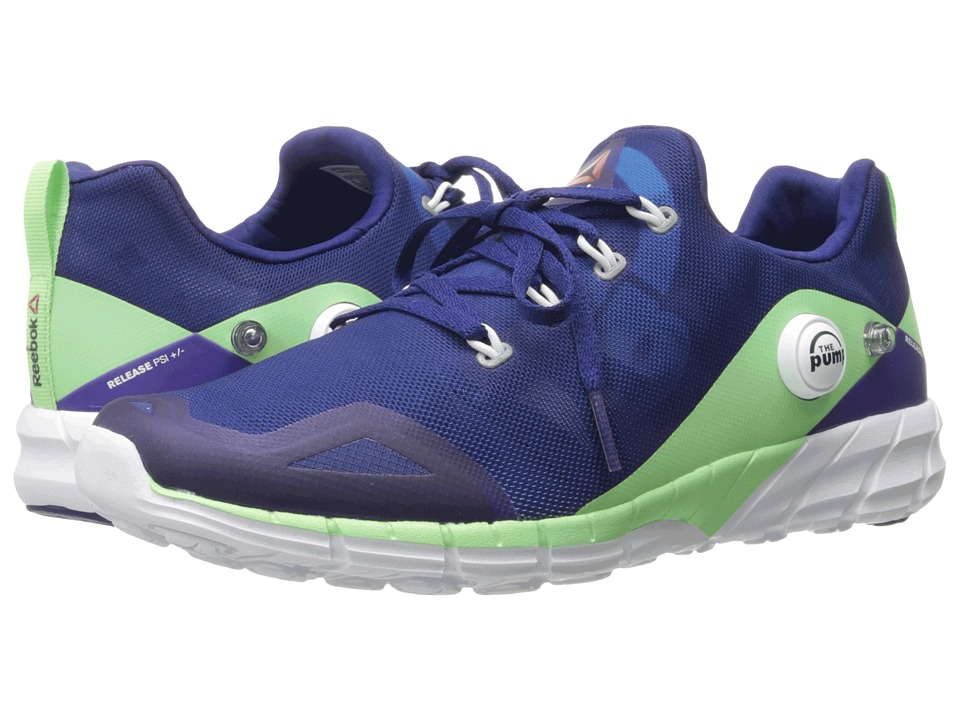 Reebok - ZPump Fusion 2.0 (Night Beacon/Electric Blue/Seafoam Green/White) Women's Running Shoes