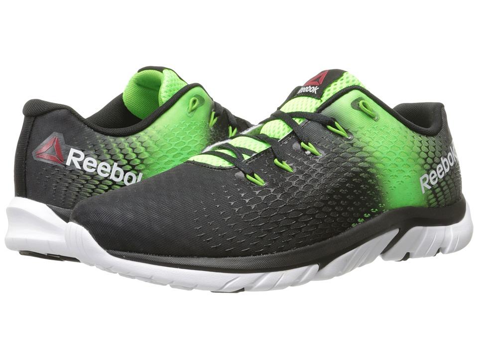 Reebok - ZStrike Elite (Black/Solar Green/Bright Green/White) Men's Running Shoes