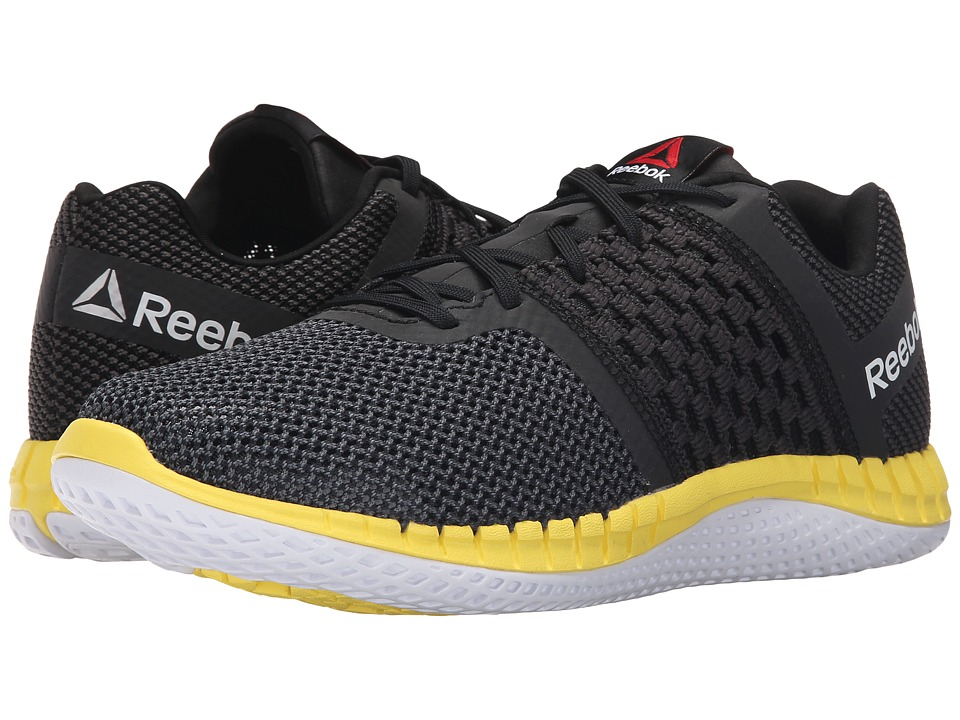 Reebok - ZPrint Run (Black/Gravel/Yellow Spark/Black Reflective/White) Men's Running Shoes