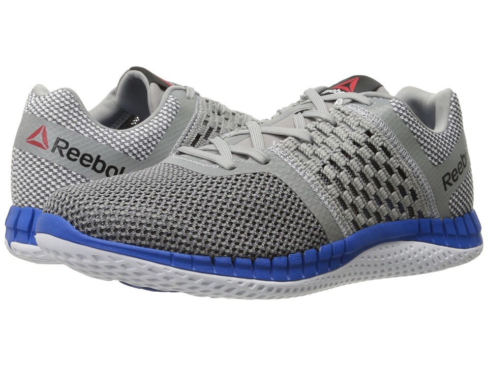 Reebok - ZPrint Run (Tin Grey/Shark/Silver Metallic/White/Blue Sport) Men's Running Shoes