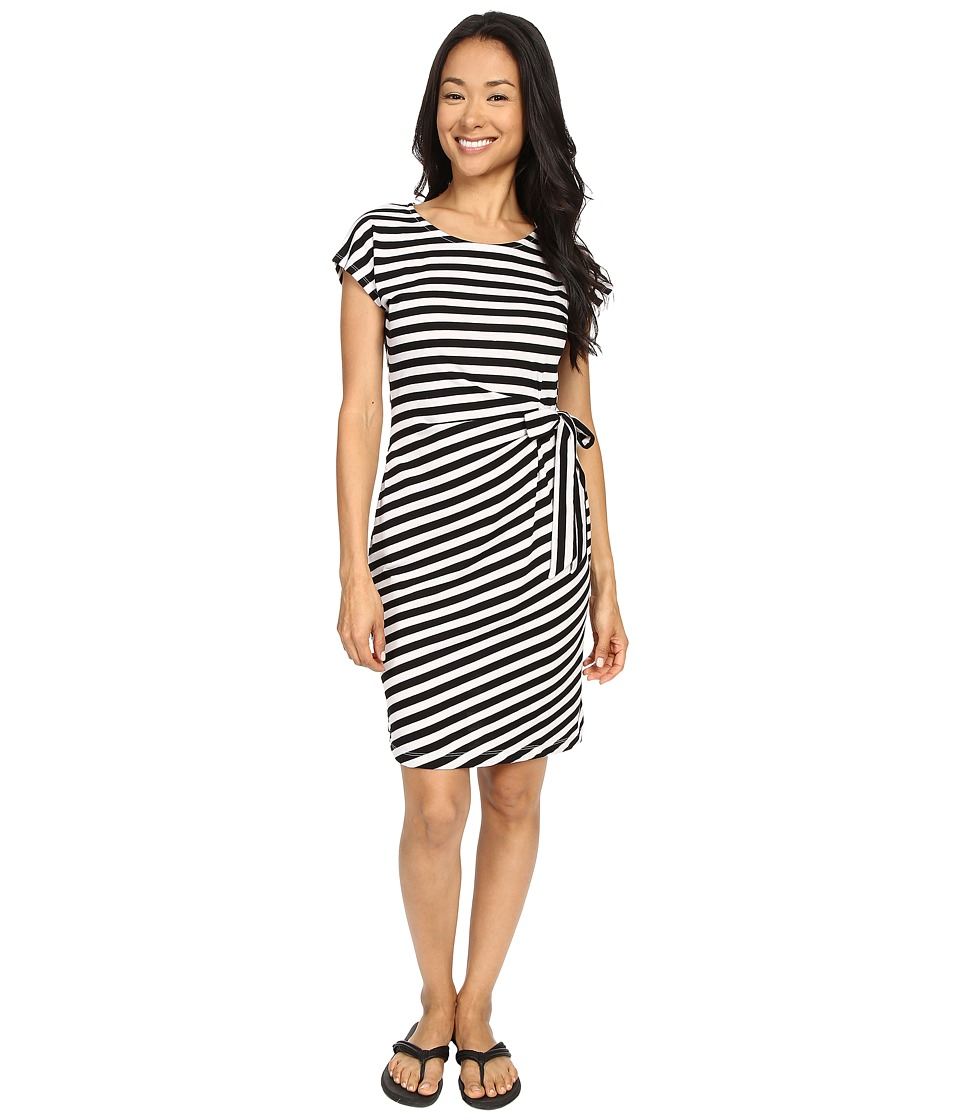 ExOfficio - Salama Dress (Black Striped) Women's Dress