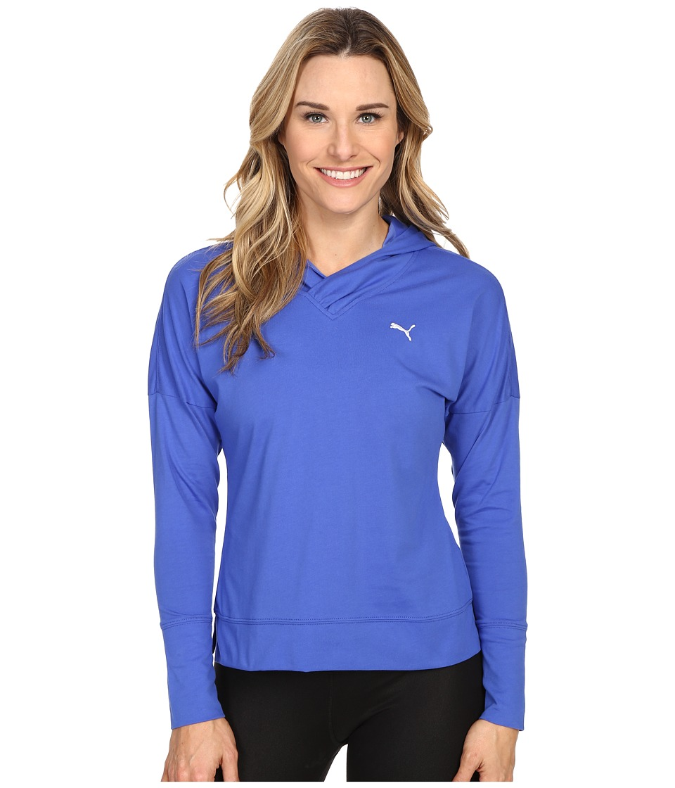 PUMA - Lightweight Pullover Top (Dazzling Blue/Cool Blue) Women's Long Sleeve Pullover