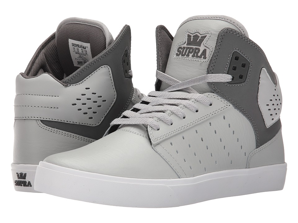 Supra - Atom (Light Grey/Charcoal/White) Men's Skate Shoes