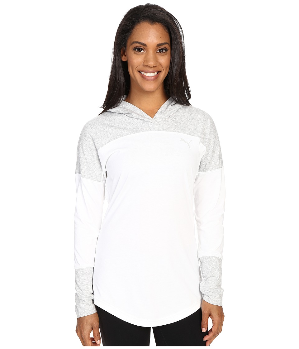 PUMA - Indo Hoodie (White/Light Gray Heather) Women's Sweatshirt