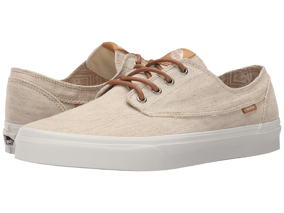 Vans - Brigata ((Pacific Isle) Natural/Blanc de Blanc) Skate Shoes