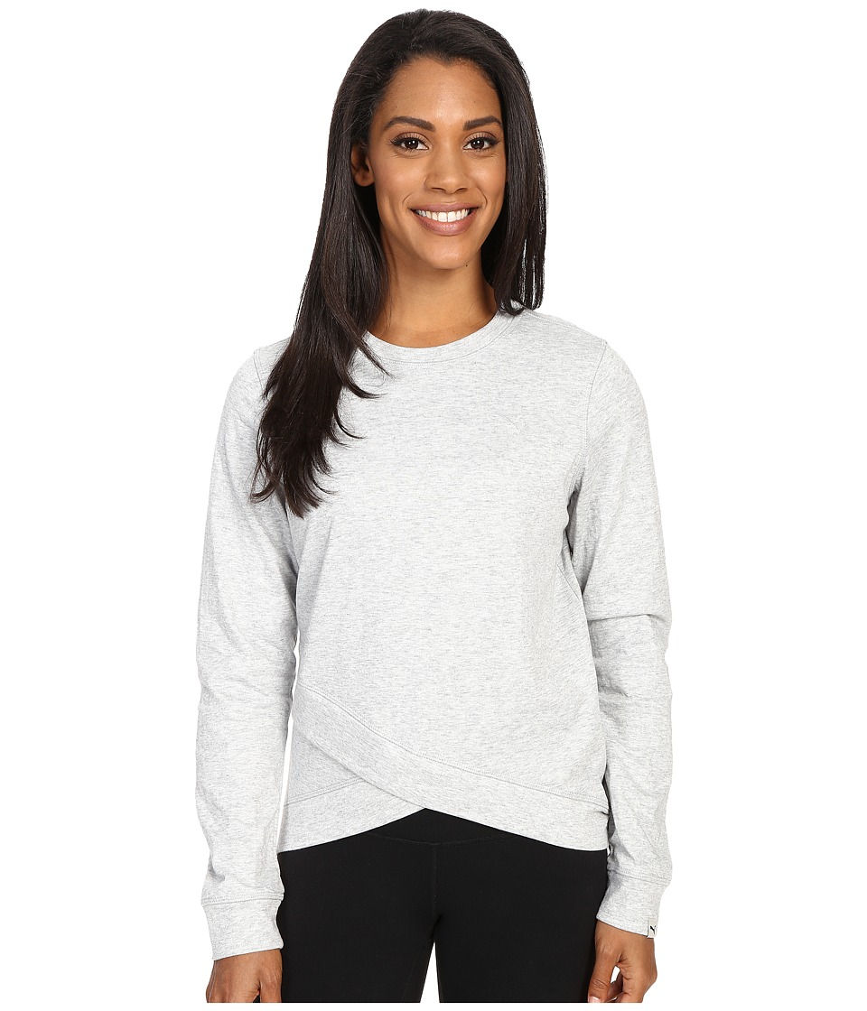 PUMA - Style Personal Best Crew (Light Gray Heather) Women's Long Sleeve Pullover
