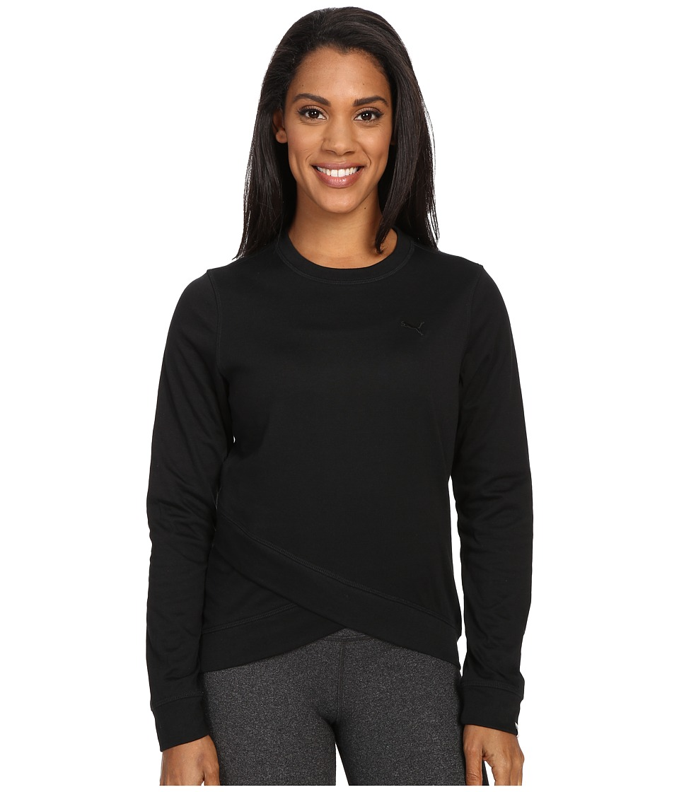 PUMA - Style Personal Best Crew (Black) Women's Long Sleeve Pullover