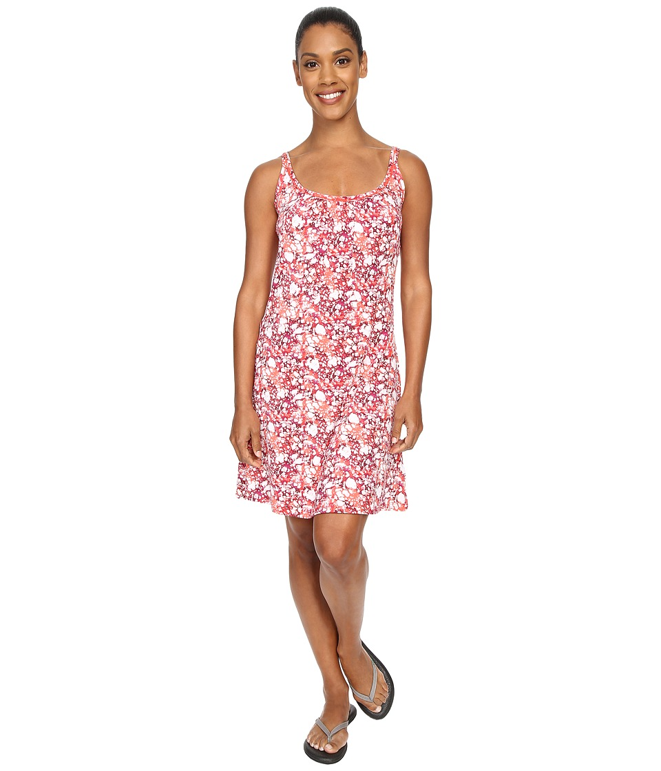 ExOfficio - Sol Cool Dress (Hot Coral Print) Women's Dress